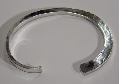 Jack da Silva: Curved Wedge Cuff - 2013, Sterling silver. $350 US