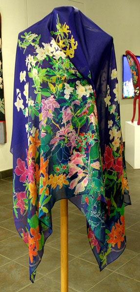 Azalea Scarf, 2009. Hand-hemmed 100% silk crepe du chine, $120.