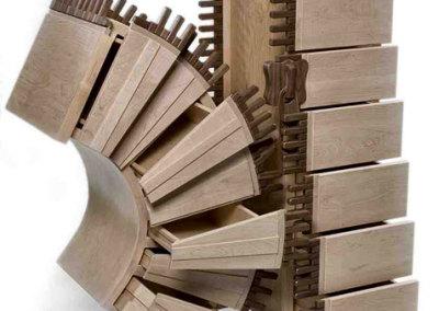 The Broken Zipper, 2010 - Howard Nixon - Maple, walnut, baltic birch, $9,500