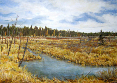 Willow Marsh (Karen Holden), 2013: Oil on canvas. $3,000