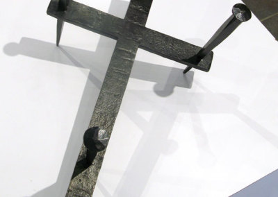 Good Friday (M. Craig Campbell), 2009: Forged and fabricated. Collection of Saint James Anglican Church