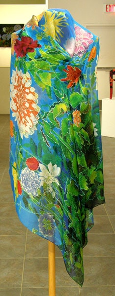 Dahlia Stole, 2009. Hand-hemmed 100% silk crepe du chine, $145.