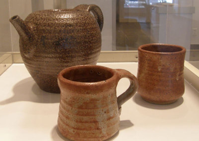 Tea Pot and Two Cups, circa 1982 - Randy Woolsey