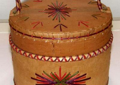 Round Lidded Basket - Annie Cluster