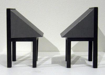 Hosaluk: Conversation - 2013, Steel, bronze. $900