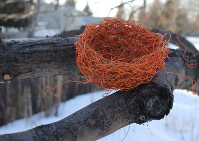 Exercise Caution, 2012: Orange Wire. $75 (Proceeds to Crisis Nursery)