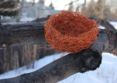 Exercise Caution, 2012: Orange Wire. $75 (Proceeds to Crisis Nursery)