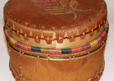 Round Lidded Basket - Flora Charles