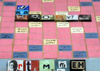 Scrabble Board (top) - Jessica Brown, Maggie Sasso, & Emma participants