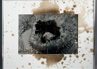 Splash: Zach Hauser, Silver Print, Mat Board, Mud