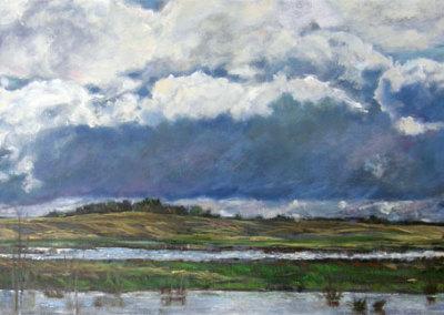 Storm Front (Karen Holden), 2013: Oil on canvas. $1,400