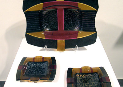 Platter and Plates by Lee Brady, Collection of Colleen and Allan Bailey