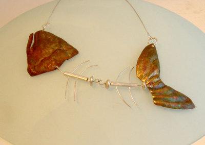 Half Dressed, Gail Daggett, 2010, Sterling silver & copper