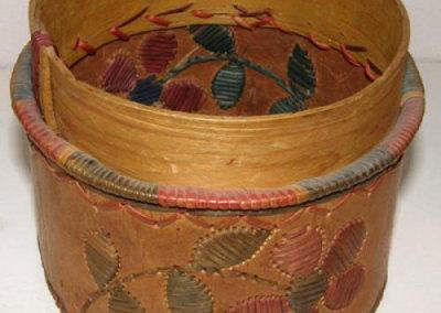 Round Birch Basket - Artist Unknown