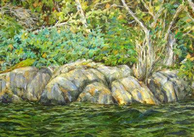 Rocky Shore (Karen Holden), 2013: Oil on canvas. $3,200