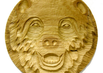 Bear Face II (Paul Lapointe) 2014: Poplar. $600.