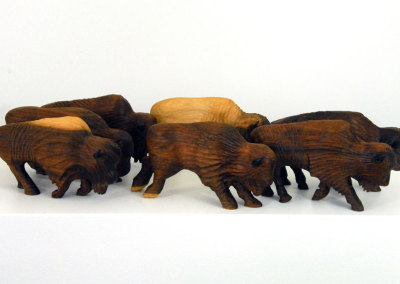 Buffalo Herd - Walnut and Patined Copper