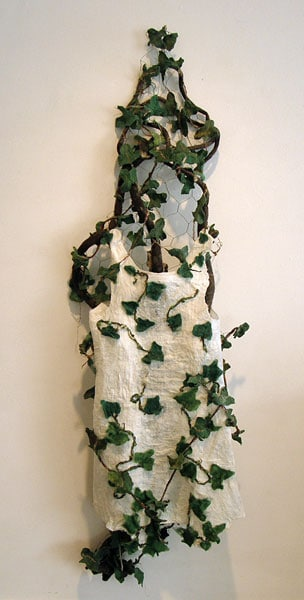 Clinging Vine, 2012: Wool, yarn, organza, acrylic medium, wire mesh; hand felted - $1,000