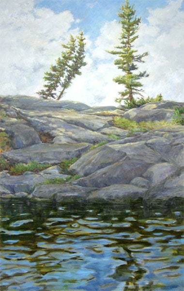 Lac La Ronge (Karen Holden), 2013: Oil on canvas. Collection of Deb Schmidt