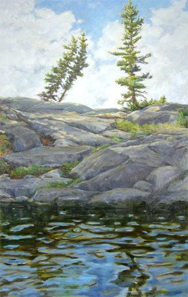 Lac La Ronge (Karen Holden), 2013: Oil on canvas. Collection of Deb Schmidt