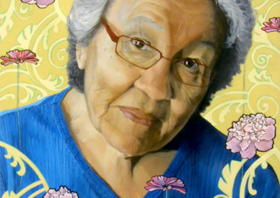 Grandmother (Catherine Blackburn) 2011: Acrylic on canvas. Collection of The Mann Art Gallery.
