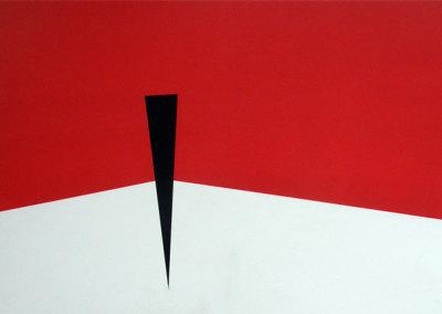 Hosaluk: Prairie Landscape (red, white, black) - 2013, Wood, acrylic. $1,200