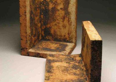 Vessel Deconstruction, 2010 - Zane Wilcox - Reduction fired stoneware, copper patina, $750