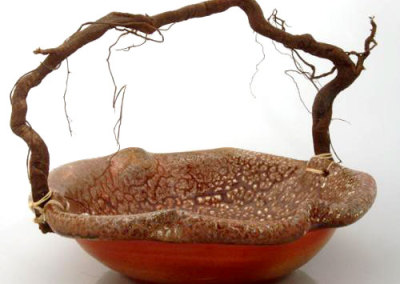 Green Bay Series#1, Lichen Basket - Linda Yates & David Hayashida