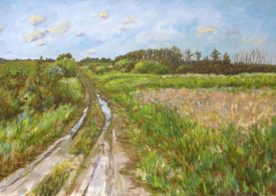 Country Road (Karen Holden), 2013: Oil on canvas. Collection of Donna & Murry Germaine