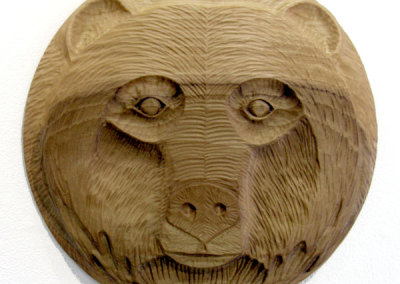 Bear Face I (Paul Lapointe) 2014: Poplar. $600.