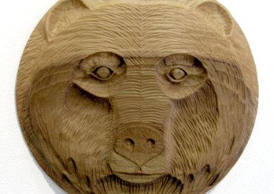 Bear Face I (Paul Lapointe) 2014: Poplar. $600.