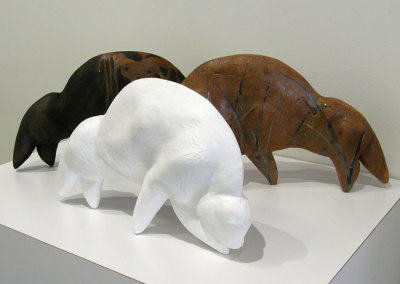 Ghost (Lee Baker & Ken Wilkinson), 2013: Clay, slip, paint. $750
