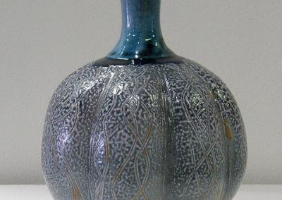 Gourd (Mel Bolen), 2012: Stoneware, glaze, oxides; Fired in a salt vapour kiln. Krueger Collection