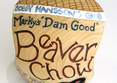 Mark Sfirri, New Hope, PA - Beaver Chow, 2000. Wood, $49.95