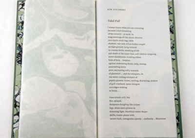 Poems for an Oil-Free Coast (Frances Hunter), 2013: Artists' Books