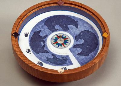 Paul Lapointe: Bear Compass, 2013. Functional art compass, $1,800.