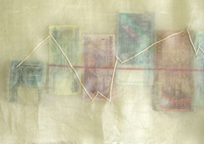 September 15, 2011 - $90.52 (Leila Olfert), 2011: Mixed media. NFS