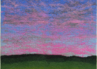 Sunset Sky (Pat Adams) 2002: Felting. $350.