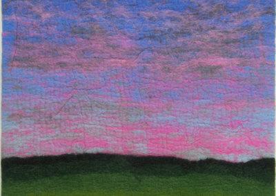 Sunset Sky (Pat Adams) 2002: Felting. $350.