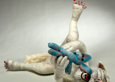 Laura Kinzel: DOG-MA - Laura Rudy Pleasure Bunny Hybrid, 2013. Felt & mixed media sculpture, $1,500 NFS.