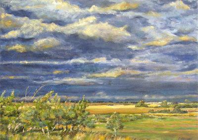 Before the Storm (Karen Holden), 2013: Oil on canvas. $800