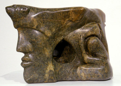 Family Pride: Linda Knight, 2010 - Brazilian soap stone; Carved. NFS $5,000