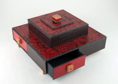 Lacquered Yuzen Box (Barbara Johnson), 2012: Box Making