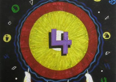 #4 (Arnold Isbister) 2010: Acrylic on canvas. $600.