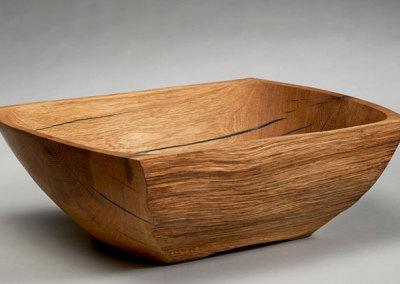Trent Watts: Burr Oak Burl, 2013. Wood bowl, $950.