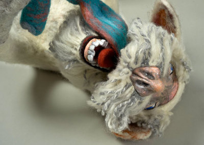 Laura Kinzel: DOG-MA - Laura Rudy Pleasure Bunny Hybrid (detail), 2013. Felt & mixed media sculpture, $1,500 NFS.