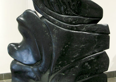 Orca (Lee Baker), 2012: Black Brazilian soapstone. $5,000