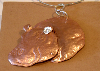 HippoPODamus, Gail Daggett, 2011, Sterling silver & copper