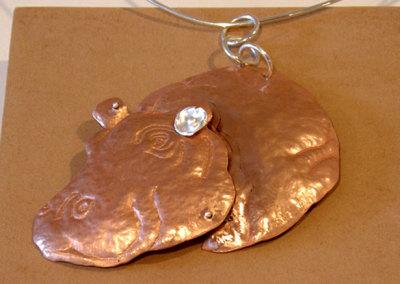 HippoPODamus, Gail Daggett, 2011, Sterling silver & copper