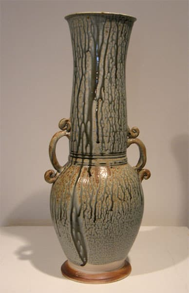 Large Blue Ash Vase - Zach Dietrich